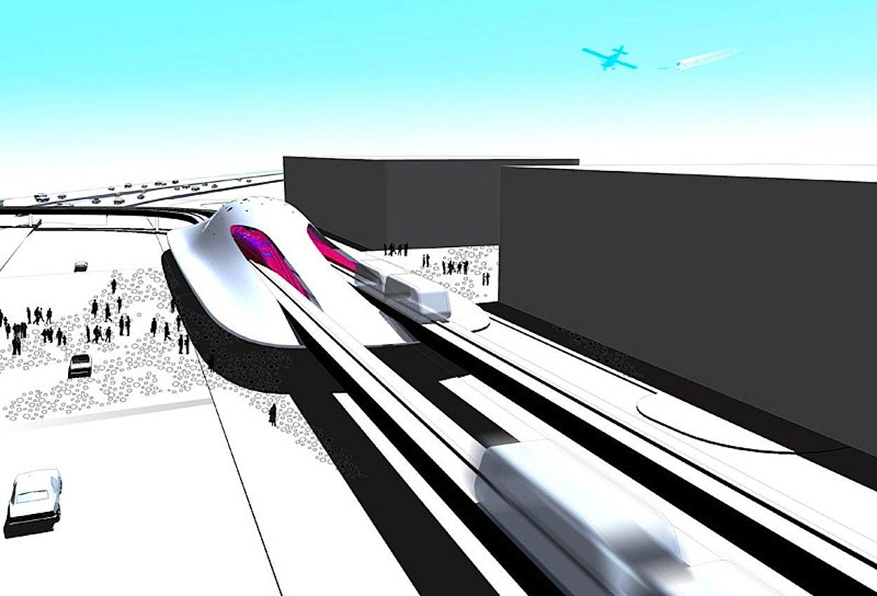 """Für den Flughafen Miami entwarf David Tajchman""""Fluid Miami"""", einen spektakulären Haltepunkt der Flughafen-Metro."""