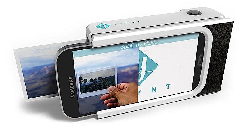 Das Pryntcase macht Smartphones zur Polaroid-Kamera: Es soll für rund 80 Euro auf den Markt kommen und Platz für 30 Blatt Fotopapier haben.