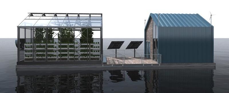 Dieses Gewächshaus schwimmt und versorgt sich selbst mit Energie
