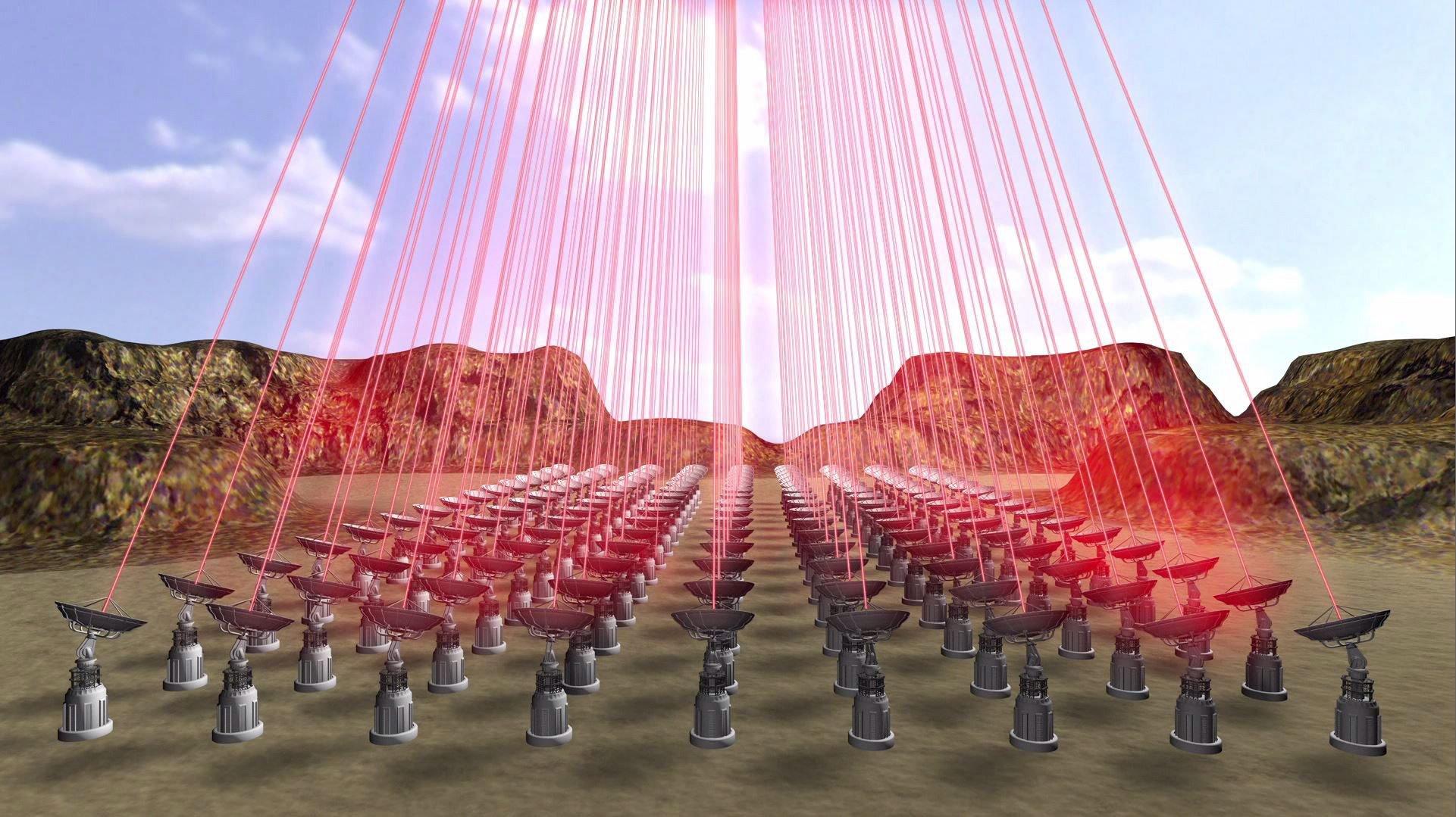 Die Laser sollen eine Leistung von bis zu 70 GW haben – das entspricht in etwa der hundertfachen Leistung eines Kernkraftwerks.