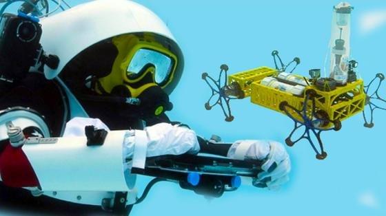 """Mensch an Roboter: """"Bitte Gesteinsprobe nehmen."""" Bremer Forscher erproben derzeit das Zusammenspiel von Mensch und Roboter. Ziel ist es, Astronauten auf Langzeitmissionen etwa bei der Erkundung des Mars zu unterstützen. Dazu haben sie den Roboter Yemo entwickelt, der sogar 50 m tief tauchen kann."""
