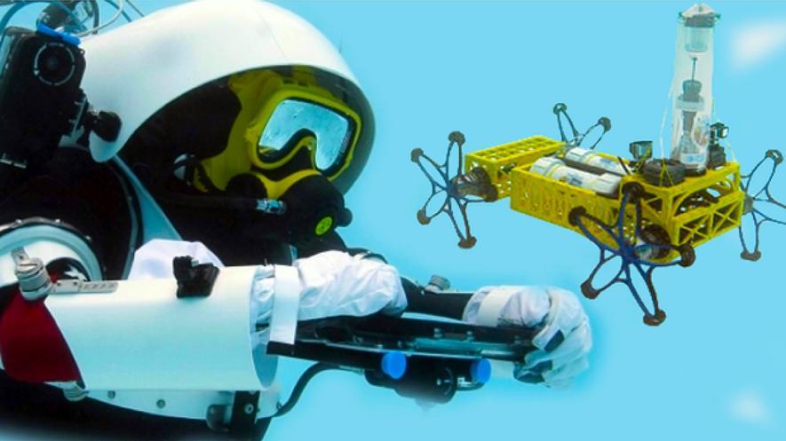 Mensch an Roboter: Nehme Bodenprobe vom roten Marsgestein