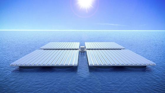 So groß wie ein Fußballfeld können die Solarflächen dank der neuartigen Schwimmkörper sein.