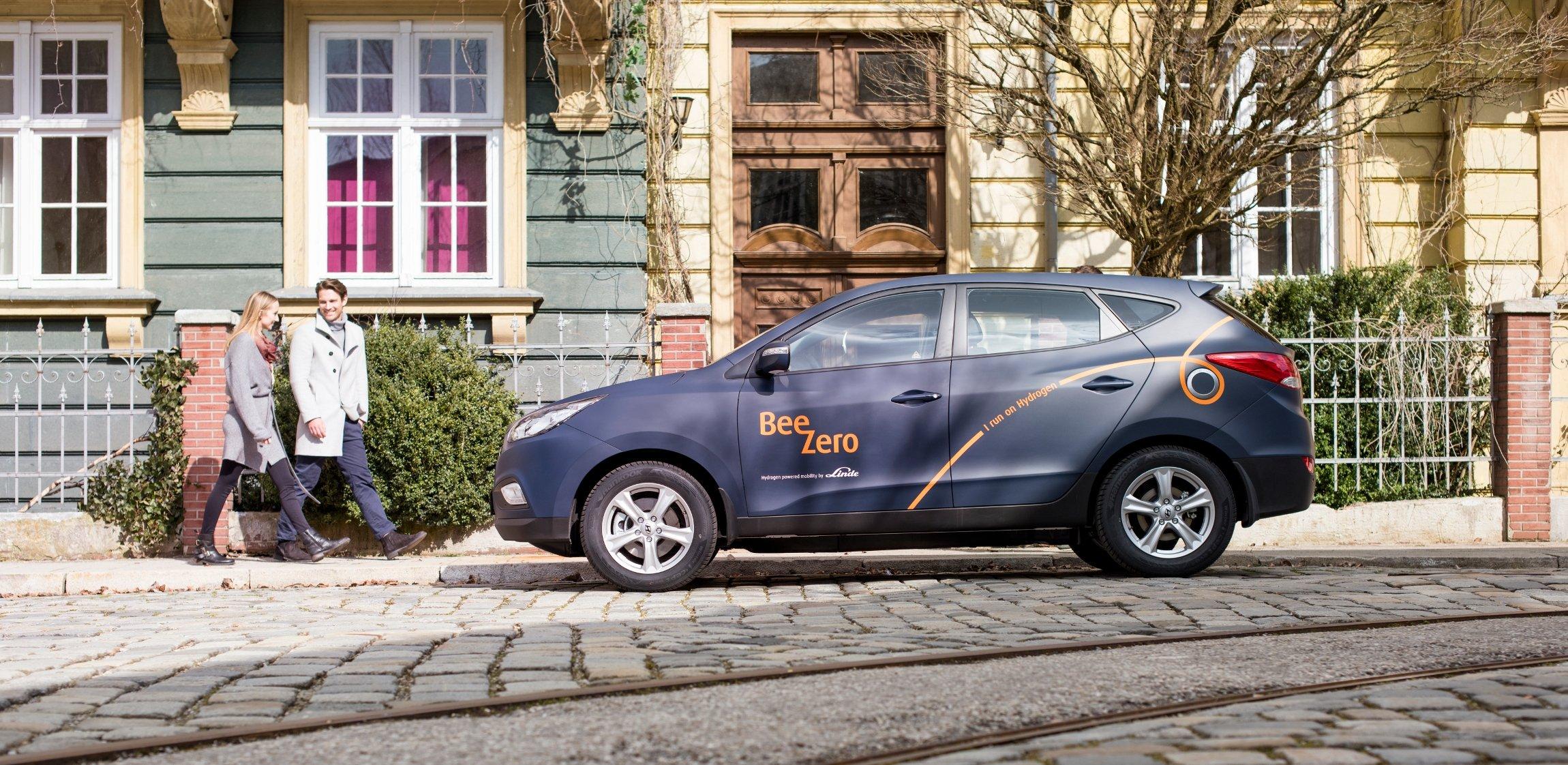 50 Hyundai-Modelle mit Wasserstoffantrieb will Linde ab Sommer in München im Rahmen eine Carsharing-Projektes auf die Straße bringen.