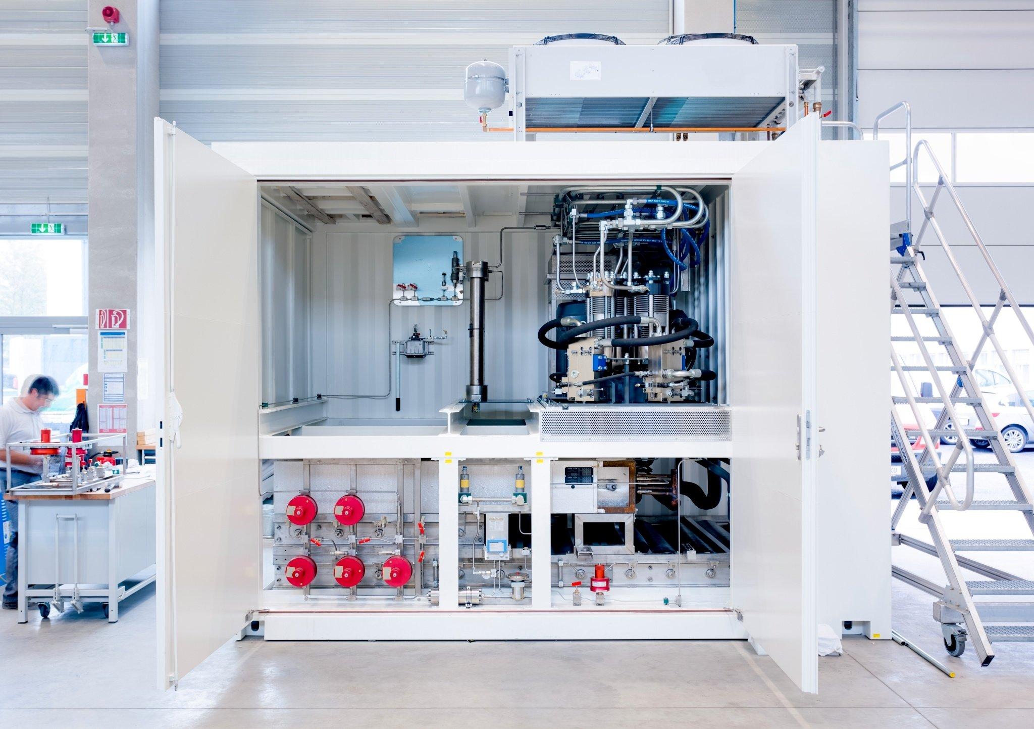 Auf der Hannover Messe präsentiert Linde eine neue Tanktechnik für Wasserstoff.