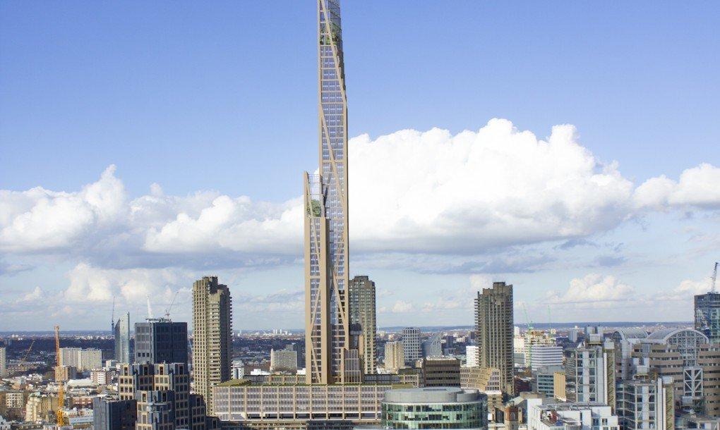 65.000 Kubikmeter Holz sollen für den Bau des Londoner Hochhauses nötig sein, haben die beteiligten Ingenieure errechnet.