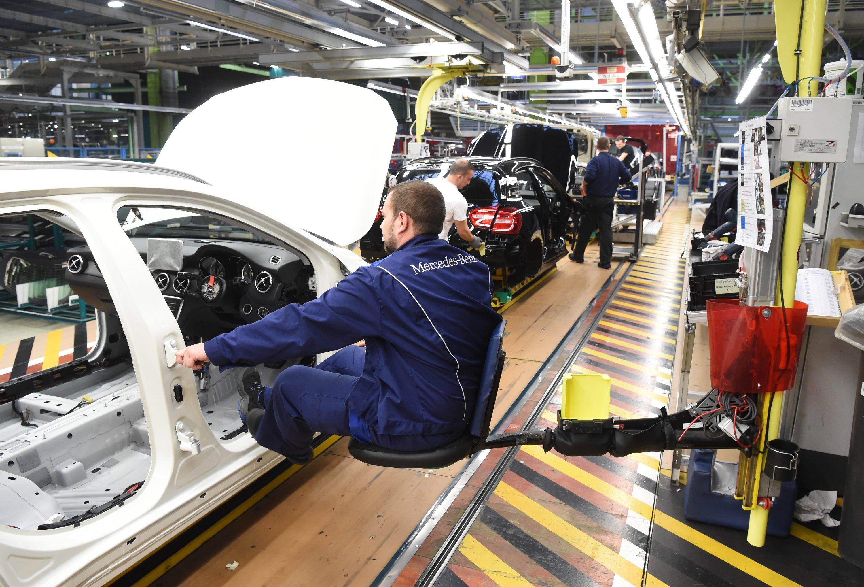 Im Werk Rastatt der Daimler AG in Rastatt (Baden-Württemberg). Der Konzern wehrt sich derzeit gegen Manipulationsvorwürfe.