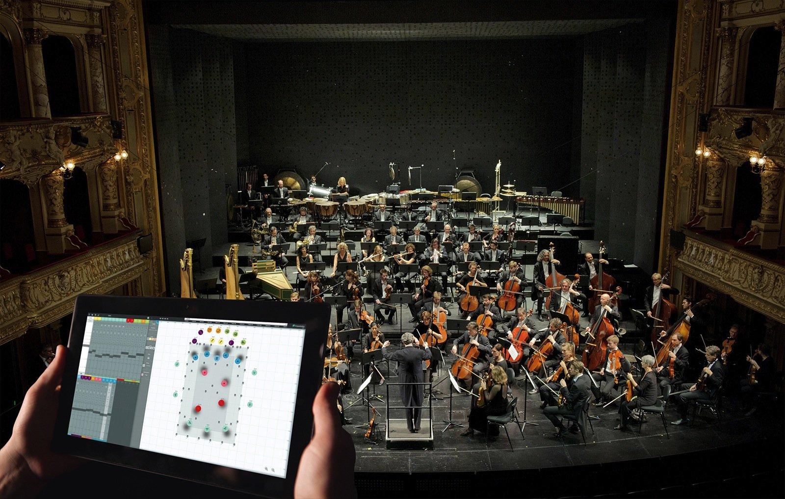 Im Opernhaus Zürich nutzen die Tontechniker die Software SpatialSound Wave, um Soundeffekte und räumliche Akustik live einzuspielen.Klänge lassen sich damit einfach am Tablet im Raum positionieren.