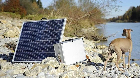 Voltsonne aus München baut mobile Solargeneratoren – auf Rädern oder in Kofferform.