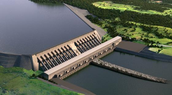 Der Staudammkomplex Belo Monte.
