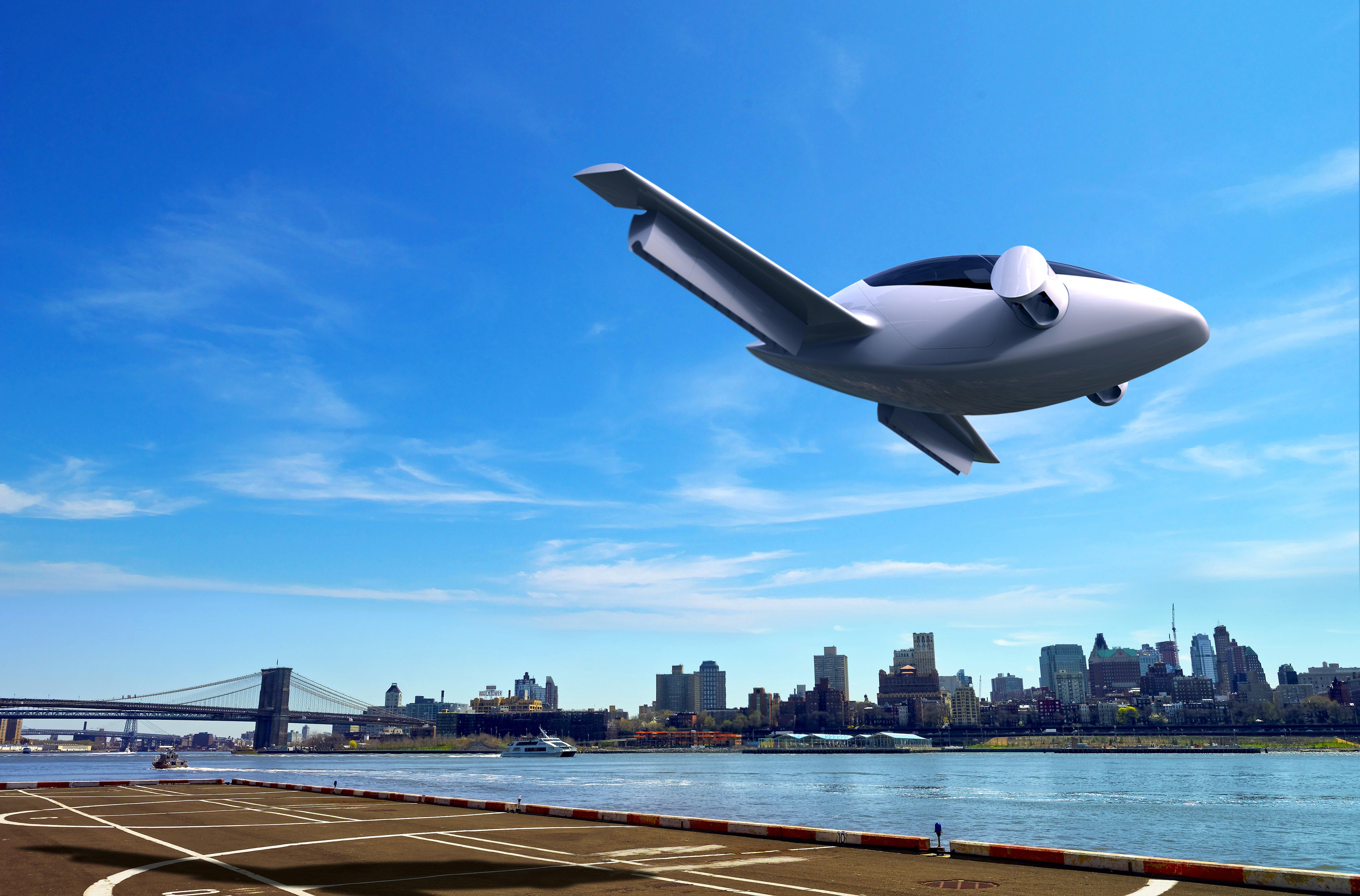 """Inspiriert wurden die jungen Ingenieure der TU München, die den Lilium Jet entwickelt haben,durch den Science Fiction """"Das fünfte Element"""", in dem sich die Autos fliegenderweise durch Straßenschluchten bewegen."""