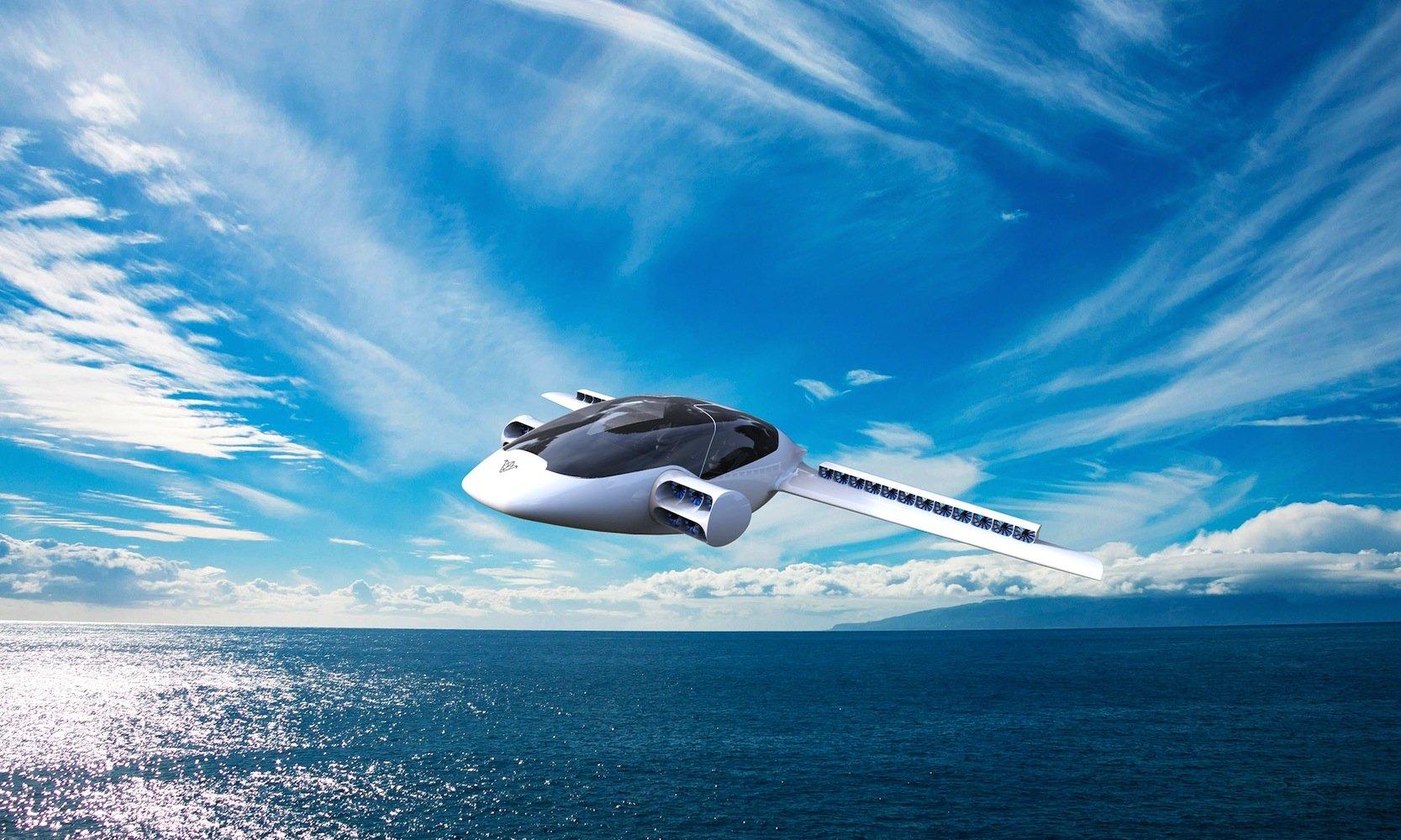 Auch über Meer können sich die Piloten des Lilium-Jets trauen: Die Reichweite des fliegenden Autos soll bei 500 km liegen.