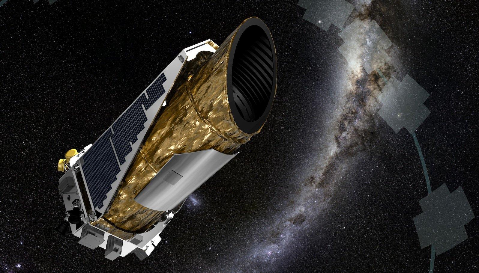 Das Weltraumteleskop Kepler zieht in einer Entfernung von 120 Millionen Kilometer von der Erde seine Kreise und sucht Exoplaneten.