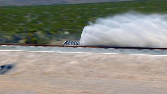 Nur 1,9 Sekunden dauerte der erste Test des Hyperloops in der Wüste Nevadas in der Nähe von Las VegasKalifornien. Wichtigstes Ergebnis: Die Antriebstechnik funktioniert.