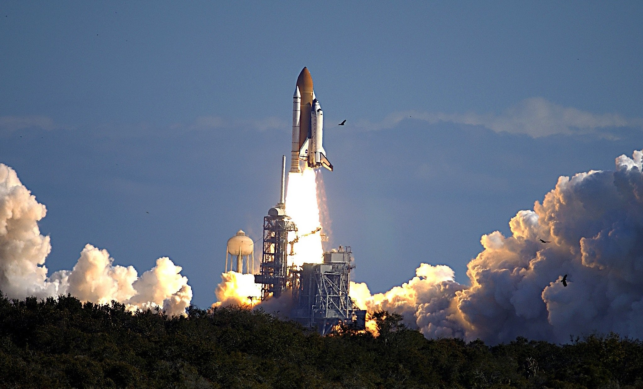 Start des Space Shuttle Columbia am 16. Januar 2003.