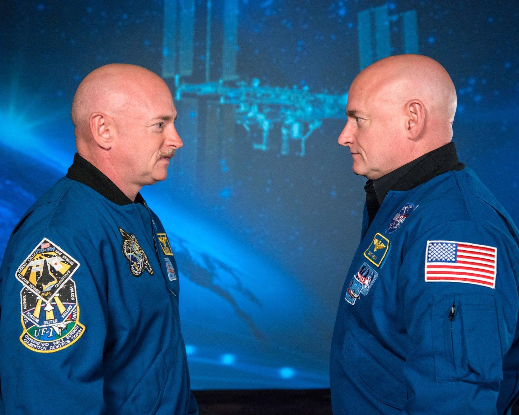 Die eineiigen Zwillinge und Nasa-Astronauten Mark und Scott Kelly.