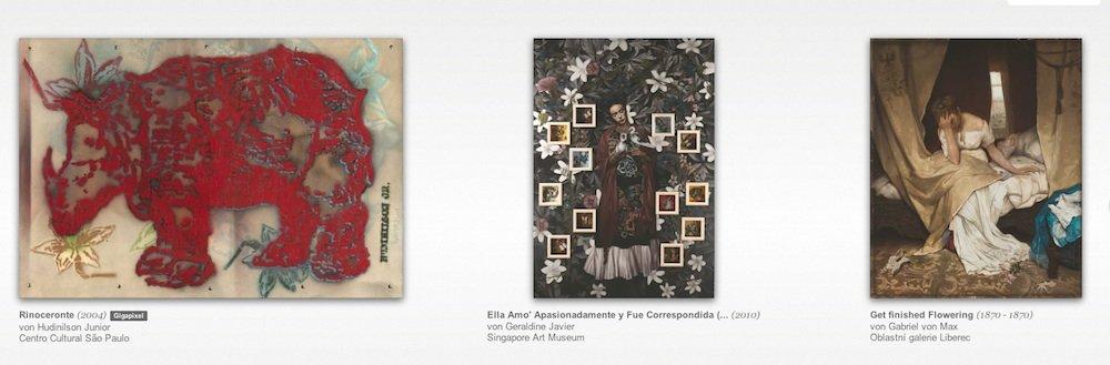 Die ersten tausend von Google digitalisierten Kunstwerke sind jetzt in einem virtuellen Museum zu sehen. Sie sind inGigapixel-Qualität aufgenommen, also mit mindestens einer Milliarde Bildpunkten. Sie können so herangezoomt werden, dass Einzelheiten zu erkennen sind, die mit bloßem Auge beim Betrachten des Originals nicht zu sehen sind.