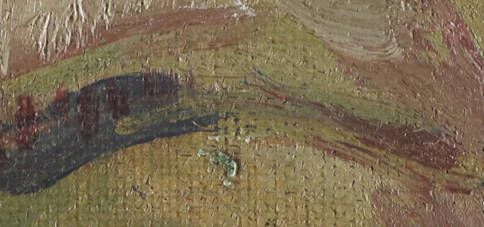 Details eines Bildes wie diese Augenbraue können im virtuellen Museum mühelos betrachtet werden.
