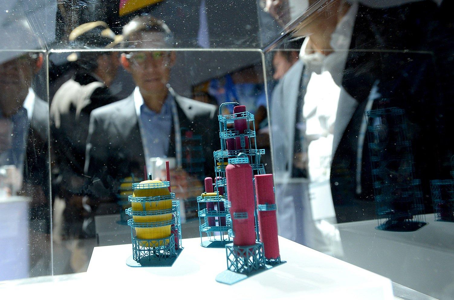 Filigrane Modelle, hergestellt mit dem neuen 3D-DrucksystemJet Fusion von Hewlett Packard.
