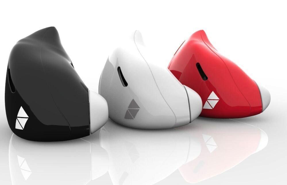 Den Ohrhörer soll es in Schwarz, Weiß und Rot geben.