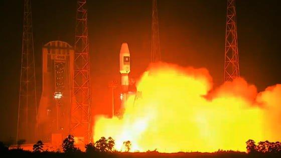 Eine Sojus-Rakete mit zwei neuen Satelliten für das europäische Navigationssystem Galileo startet am 24. Mai 2016 kurz vor 11 Uhr deutscher Zeit vom Weltraumbahnhof Kourou. An Bord waren der 13. und der 14. Satellit für das Programm der EU und der Europäischen Weltraumorganisation ESA.