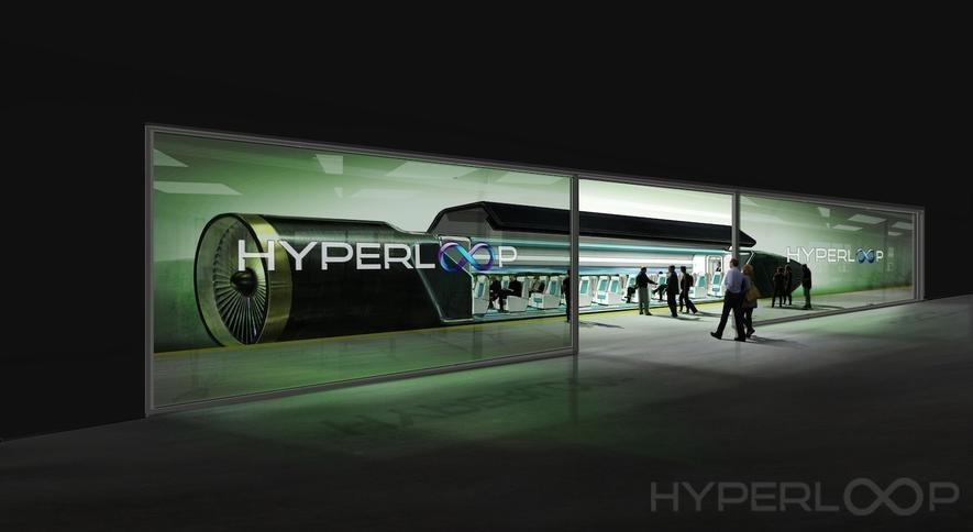 Schon 2021 will Hyperloop One Passagiere mit dem Überschallzug befördern. Sie rasen dann wie in einer Rohrpost mit über 1200 km/h durch eine Vakuumröhre.