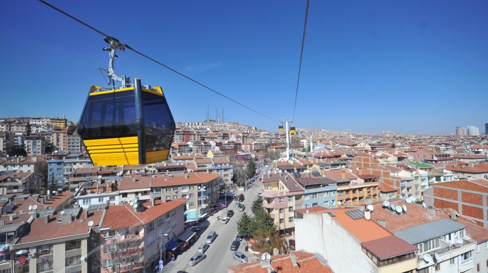Mit 3228 Metern ist die Seilbahn in Ankara die längste horizontale in Eurasien.