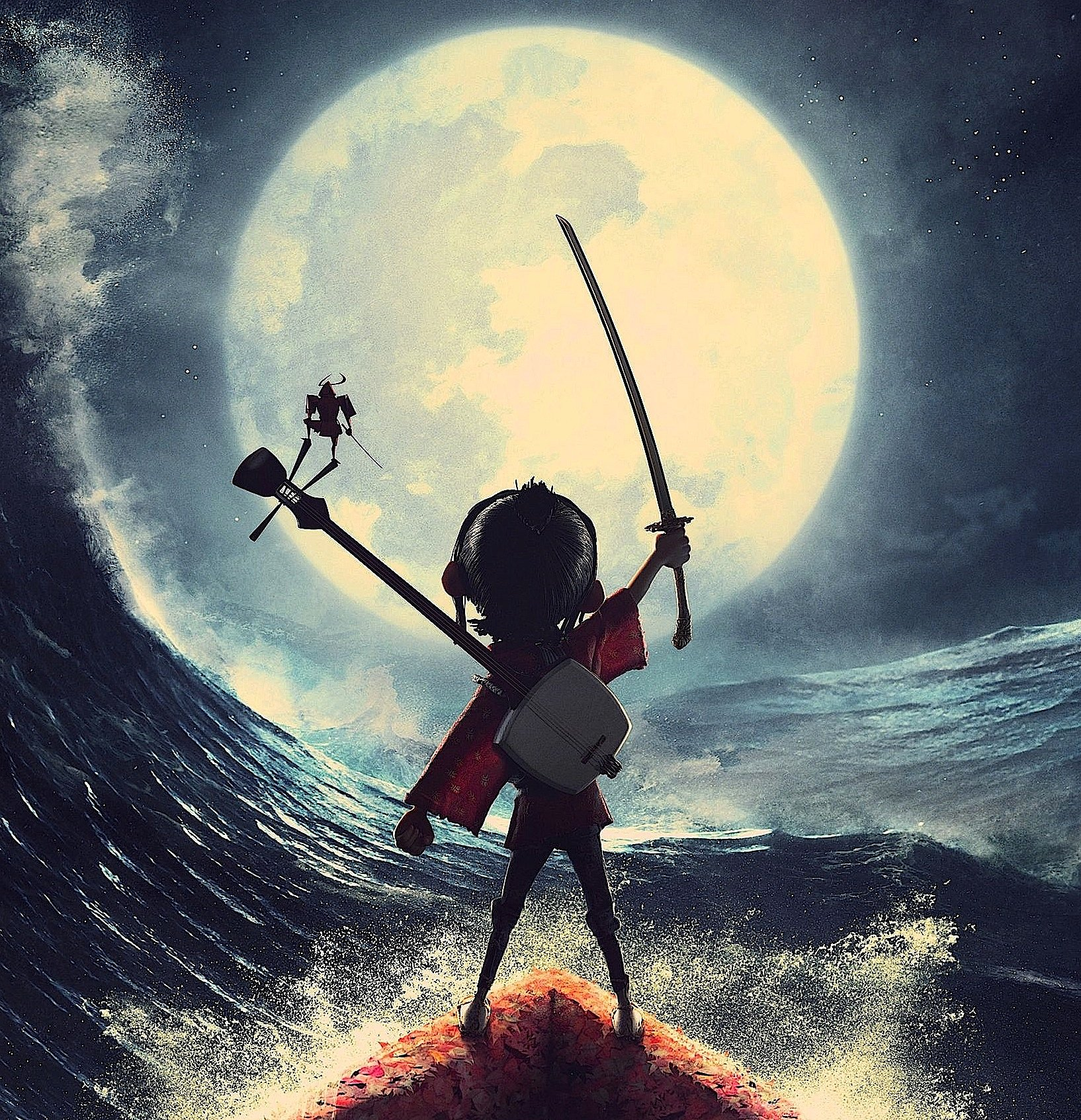 Ausschnitt aus dem Filmplakat des Films Kubo:Alle Figuren des nächsten Laika-Films werden mit deutscher Druckersoftware hergestellt.