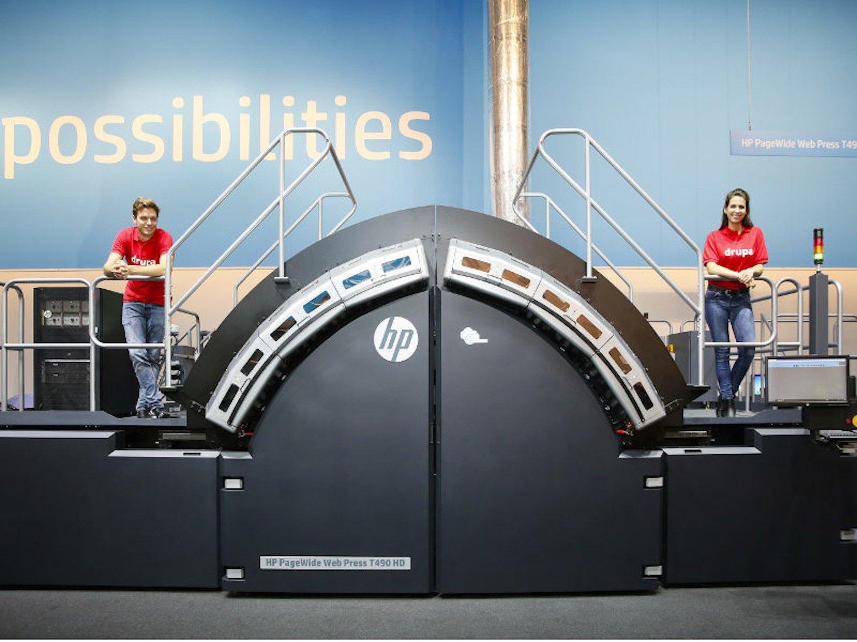 Dieser Inkjet-Drucker von HP druckt 522.000 Seiten pro Stunde.