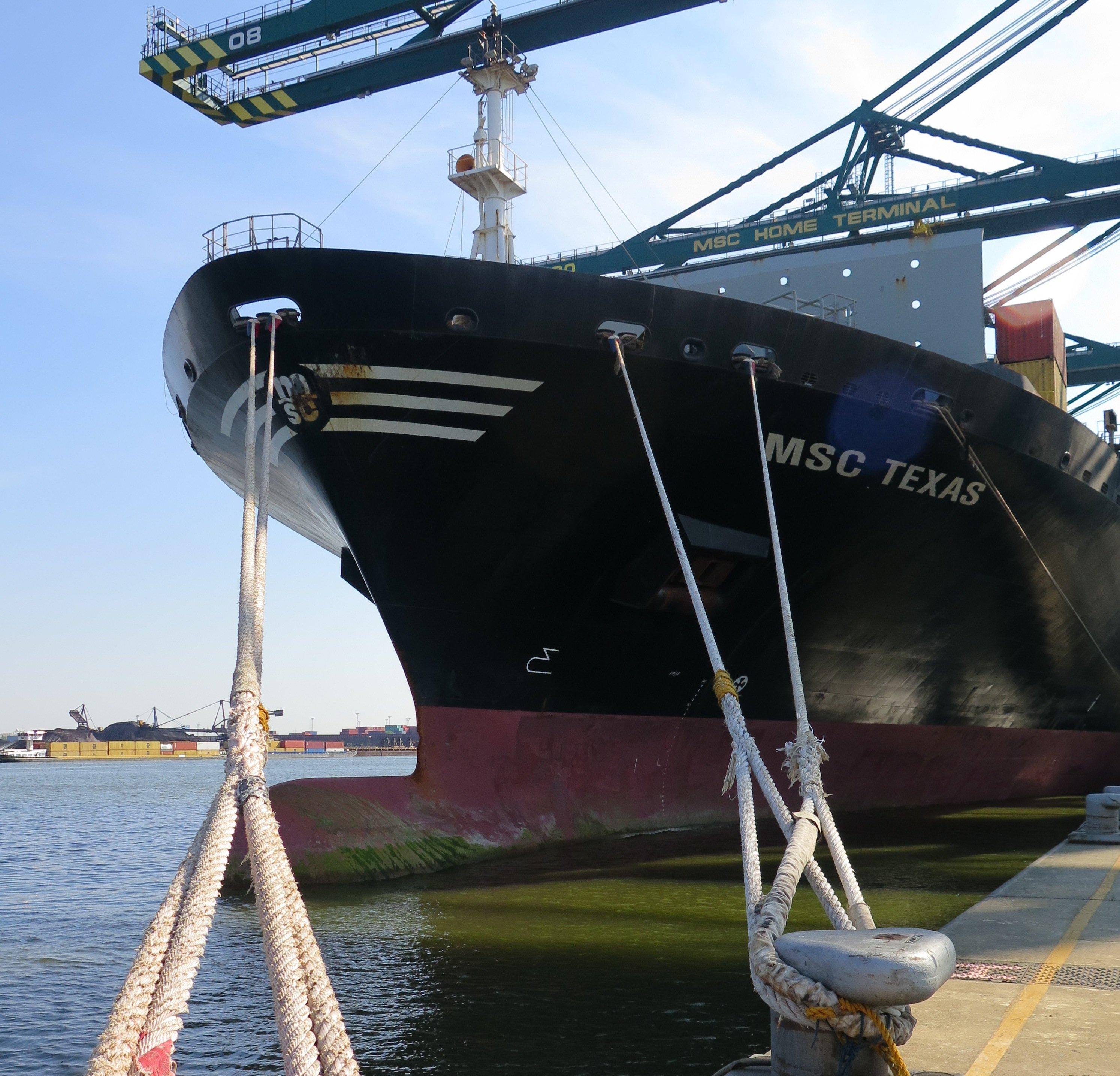 Die MSC Texas ist das erste Containerschiff, das sein Südwasser durch eine Filteranlage gewinnt, die mit Abwärme der Motoren betrieben wird.