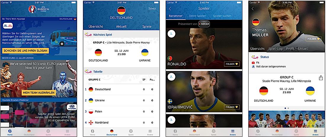 """Die offizielle UEFA-App zur Europameisterschaft verspricht""""ultimative Parallelberichterstattung""""."""