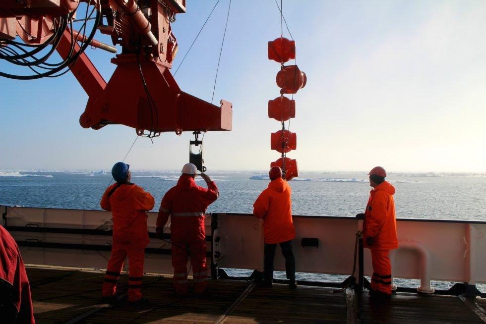 Die Crew auf dem Forschungsschiff Polarstern.