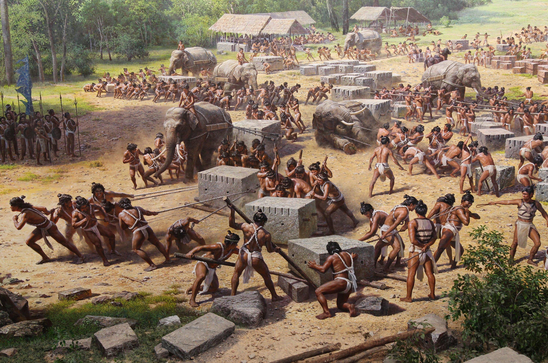 Darstellung im Angkor Panorama Museum in Siem Reap in Kambodscha: Die jetzt entdeckten, untergegangenen Städte sind etwa so groß wie die Hauptstadt Phnom Pen.