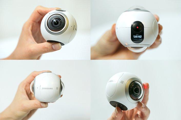 Die neue 360-Grad-Kamera Gear von Samsung hat nur einen Durchmesser von 60 mm.