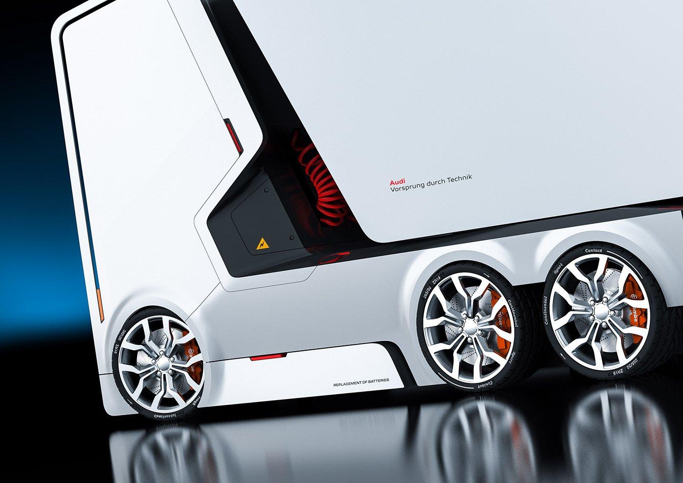 Der Entwurf für einen Audi-Truck wird von Elektromotoren angetrieben.