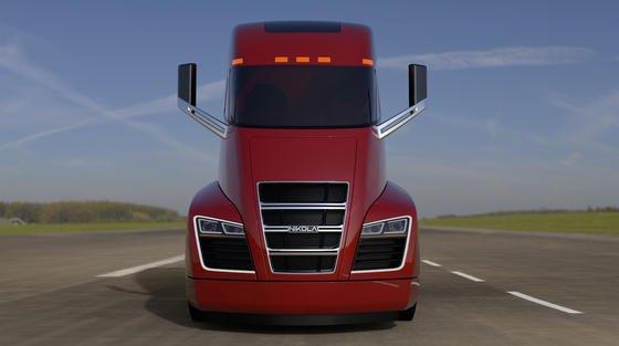 So soll der Nikola One aussehen. Im Dezember 2016 will die Nikola Motor Company einen Prototypen des Sattelschleppers vorstellen. Das Besondere: Der Lastwagen kann angeblich fast 2000 Kilometer weit rein elektrisch fahren.<strong></strong>