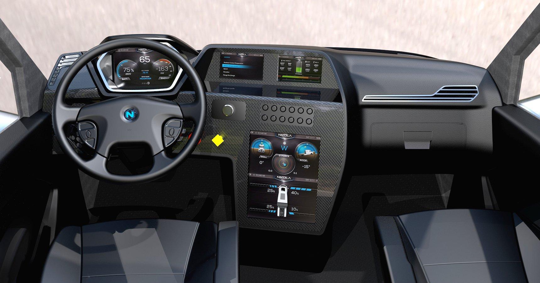 Einen kleinen Animations-Blick ins Innere des Nikola One gewährt die Nikola Motor Company auch.