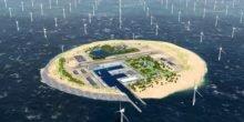 Tennet plant künstliche Insel in der Nordsee für Offshore-Windparks