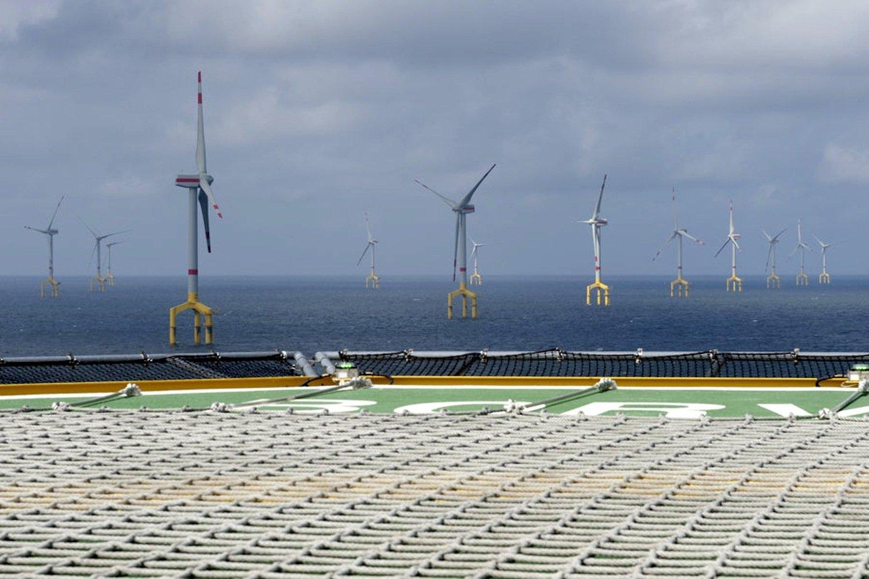 Windpark in der Nordsee: Derzeit müssen die Windparks über zum Teil lange Strecken mit dem Festland verbunden werden.
