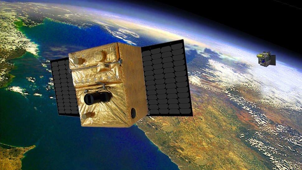 Die Kleinsatelliten Tet und Biros sollen ab Juni 2016 als Mission Firebird ein hochpräzises Tandem zur Waldbrandfrüherkennung bilden.