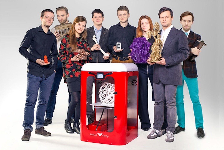 Das Team von Aye Aye Labs: Ihr 3D-Drucker ist 450 mm/s schnell und somit angeblich fünfmal schneller als die meisten Konkurrenzprodukte.