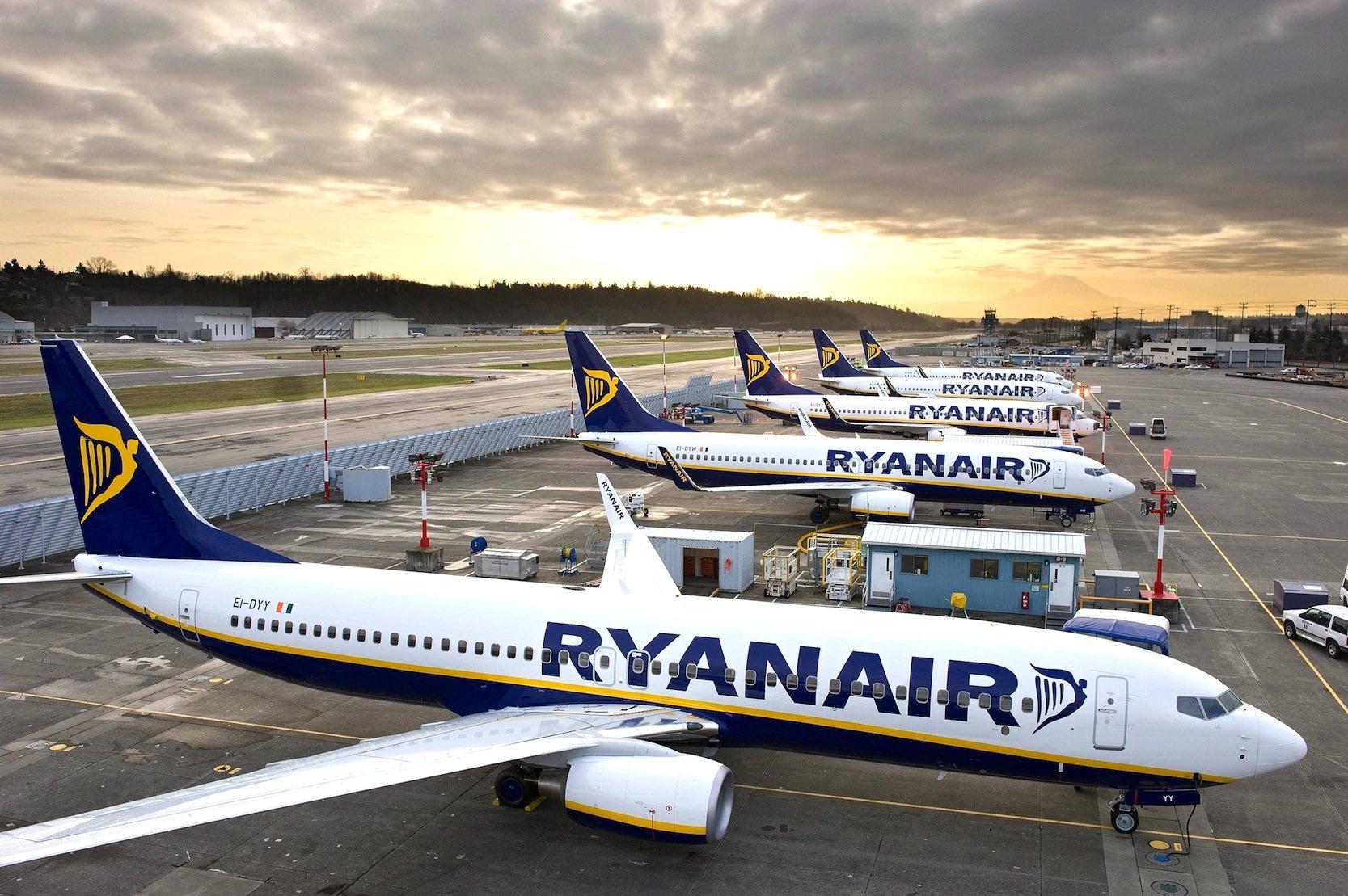 Flugzeuge von Ryanair: Die irische Fluggesellschaft ist der größte Billigflieger in Europa und weltweit die Nr. 2.