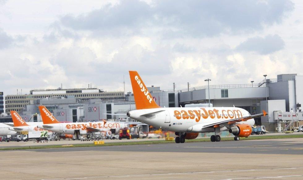 EasyJet-Maschinen am Flughafen Gatwick: Die Briten sind der drittgrößte Billigflieger der Welt.