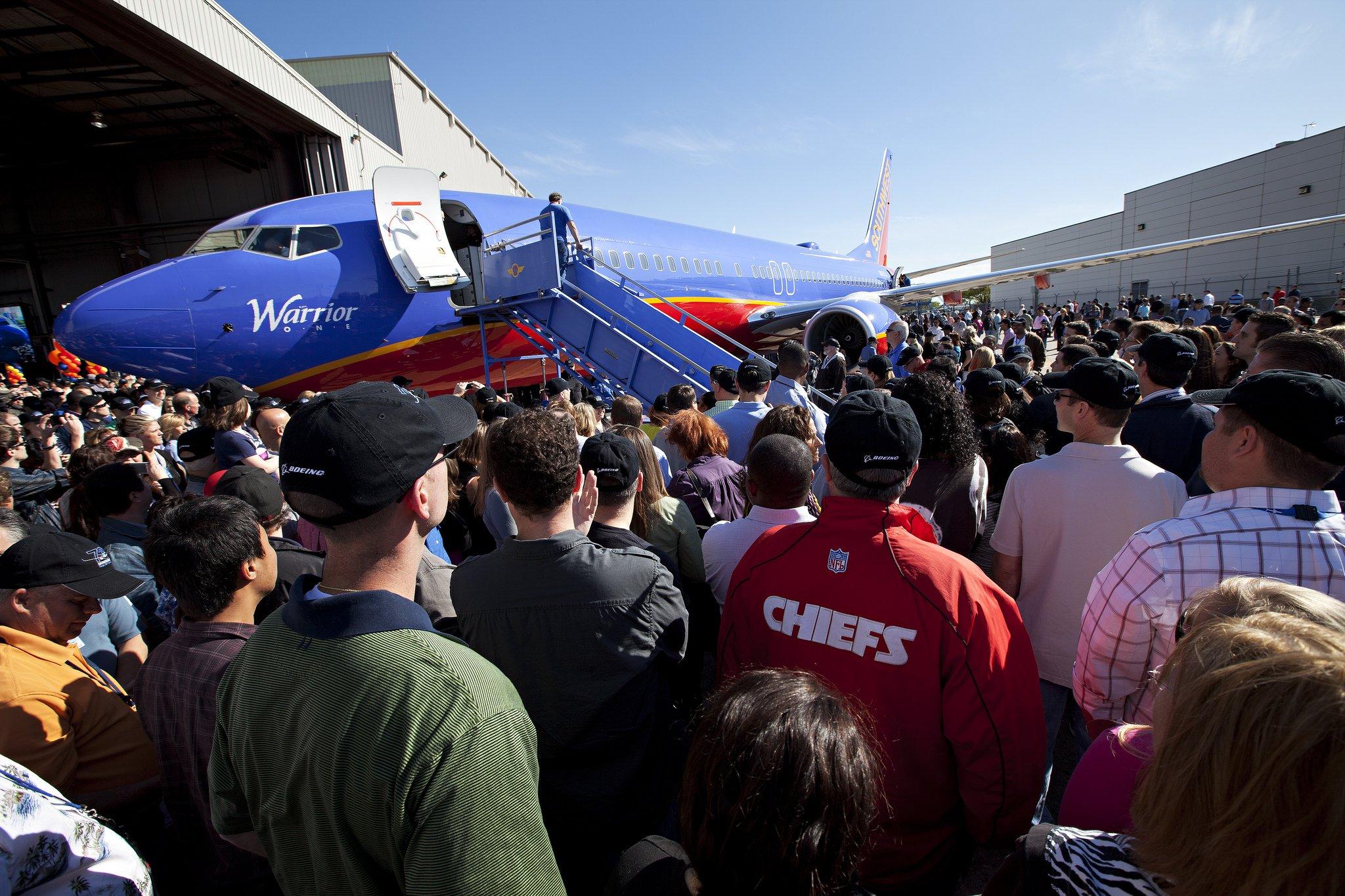 Indienststellung einer Boeing 737-800 der amerikanischen Southwest Airlines: Die US-Gesellschaft ist der größte Billigflieger der Welt.