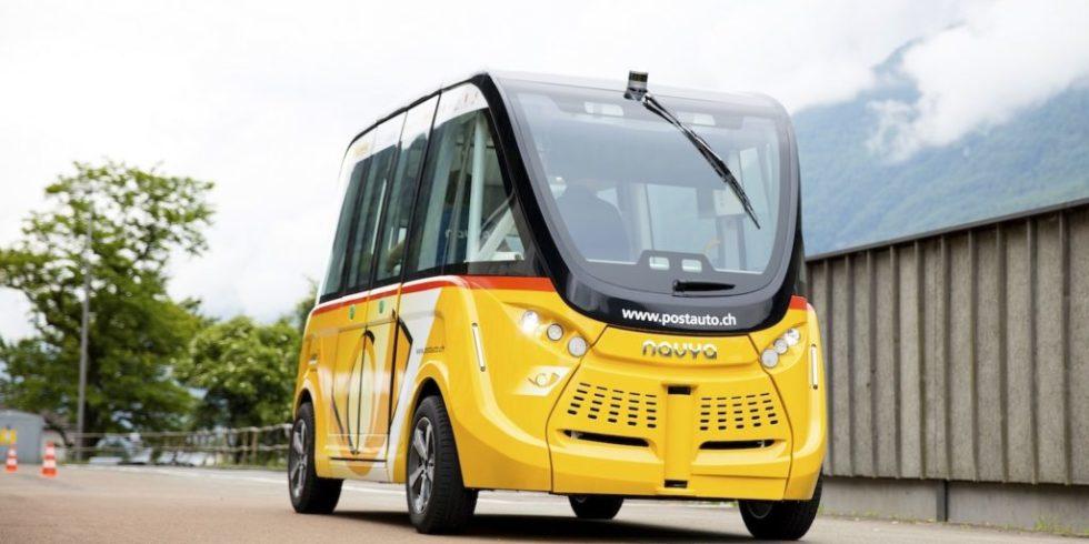 In der Schweiz fahren die ersten Elektrobusse ohne Fahrer