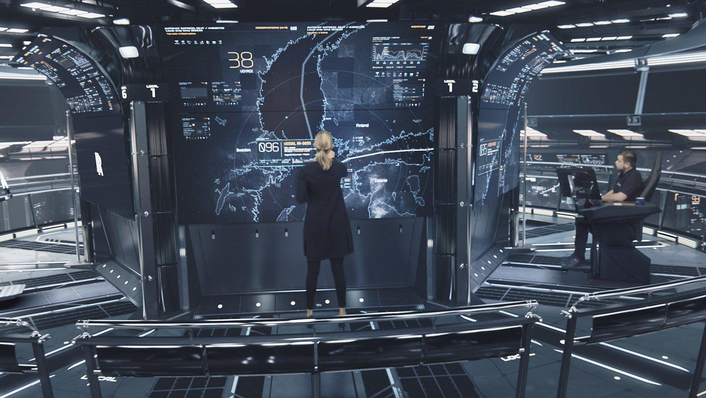 Kommandostand an Land: Von hier wird die Crew die Roboterschiffe fernsteuern und überwachen.