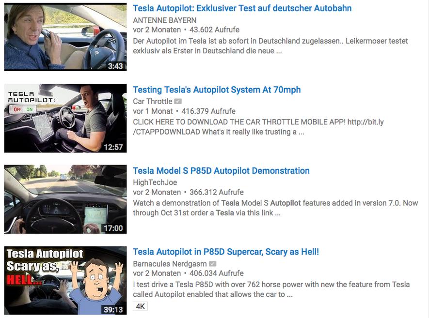 Youtube ist voll von Videos, die verantwortungslose Fahrer zeigen. Sie missachten Teslas Bedienungshinweise für den Autopiloten. Hat das Opfer die Fähigkeiten des autonomen Fahrens vielleicht auch überschätzt?