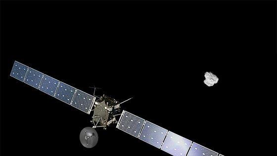 Die Sonde Rosetta vor dem Kometen Tschuri: Am 30. September wird Rosetta auf Tschuri landen und mit dem Kometen ins Weltall fliegen.