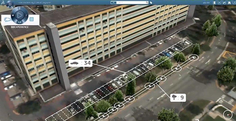 Im digitalen Singapur werden parkende Autos genauso gezählt wie Bäume.