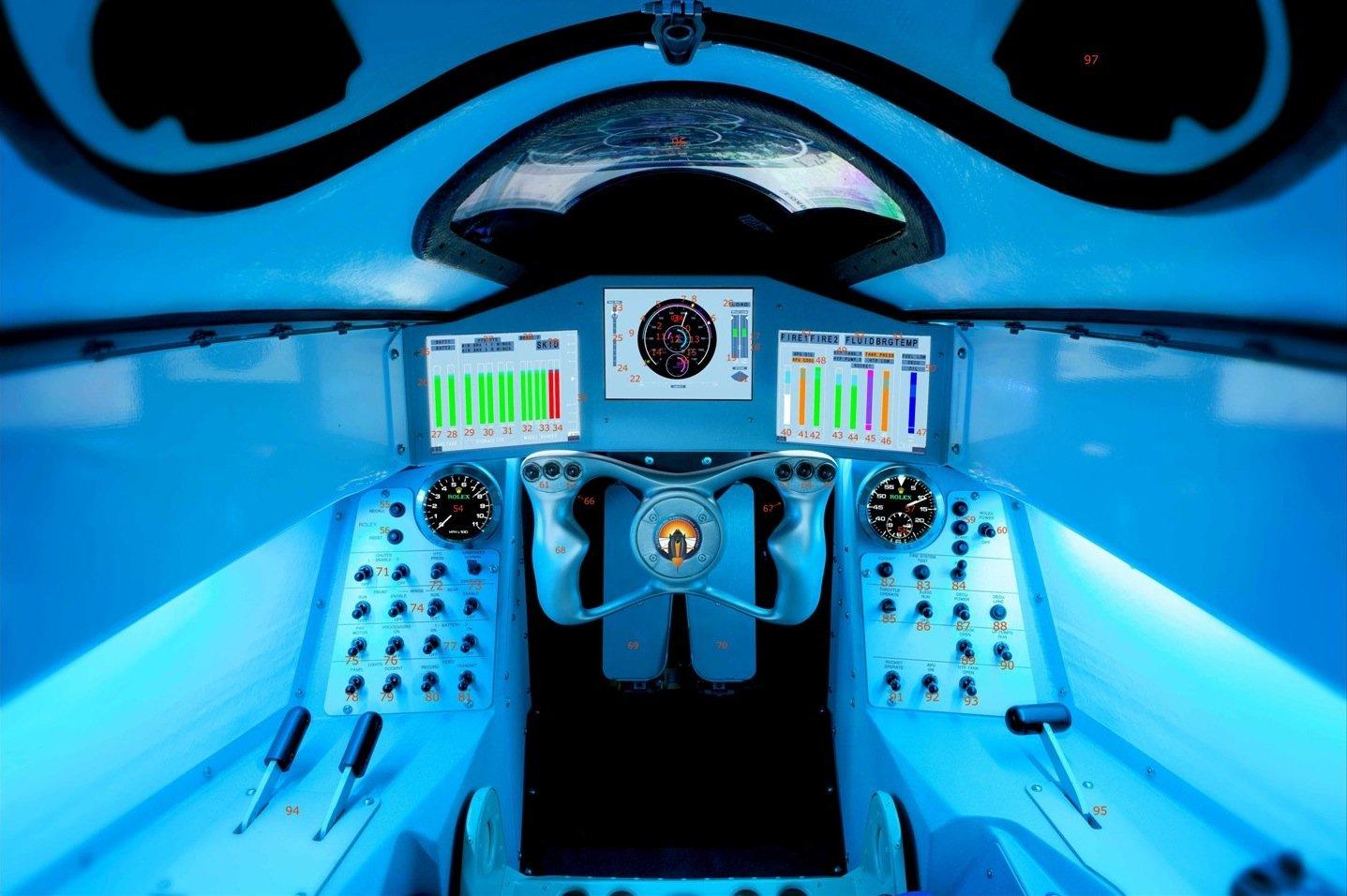 In dieses Cockpit des Bloodhound will der britische Air-Force-PilotAndy Green einsteigen.
